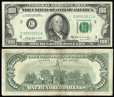 $100 federal reserve notes