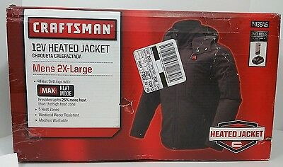 "New Craftsman Men's Heated Jacket  - 943645 - Men's 2XL ""NO BATTERY OR CHARGER!"""