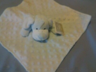 Security Blanket Elegantbaby Elegant Baby Blue Puppy Dog / Minky Dots - Vgc