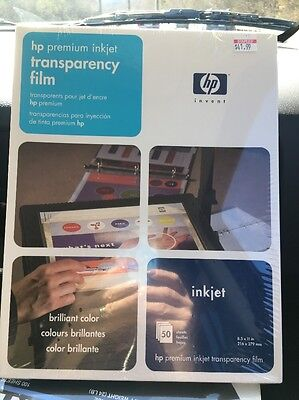 HP Premium Inkjet Transparency Film 50-Sheets C3834A NEW  SEALED