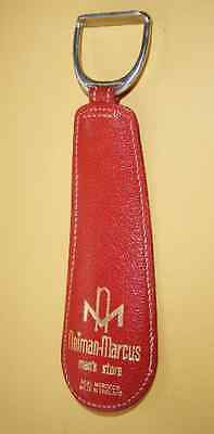 Vintage Neiman Marcus Red Leather Shoe Horn