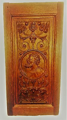 Antique English Wooden Carved Panel