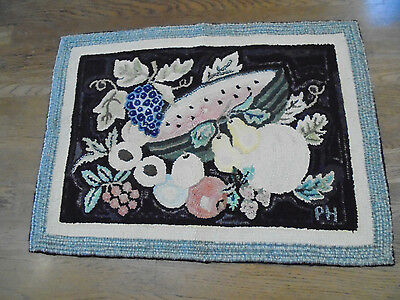 Pat Hornafius Country Cottage Hooked Rug Mixture Of fruit full Delights