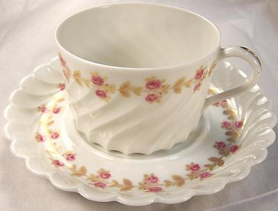 Haviland Limoges France Plaisance Drum Cup and Saucer Set Multiples Available