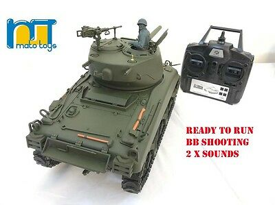 MATO Sherman M4A1 radio remote controlled tank  1:16 RTR 2.4G  with 2 Sounds
