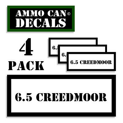 "6.5 Grendel Ammunition Vinyl Labels Stickers 2-pack 3/"" 6.5 GRN Ammo Can Decals"