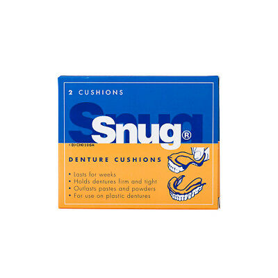 NEW Snug Denture Cushion 2 Pack Cold Sores Medicine