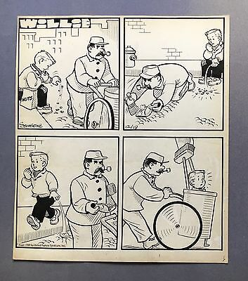 "Willie Daily Strip 12-19-49, Original art by Leonard Sansone ""Source Cleanup"""