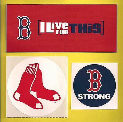Boston Red Sox MLB Baseball Team Issued Decal Stickers Lot of (3)