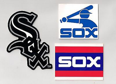 Chicago White Sox MLB Team Logo Decal Stickers Lot of (3)
