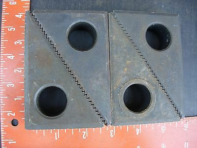 "Lot 2 pr 4 pcs machinist clamping step block about 3.75"" x 2.25"" beveled edges"