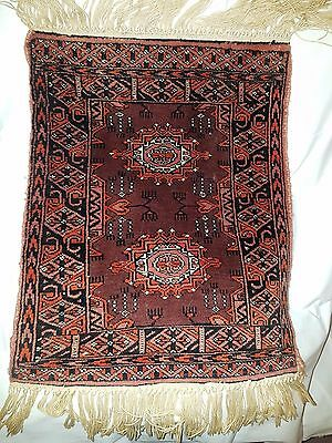 Antique Persian rug, Turkmen type with Gul medallion pattern