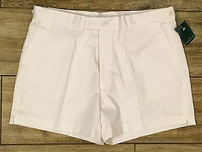 Vintage 1980's FRED PERRY White Tennis Shorts Sz. 40 Preppy NWT
