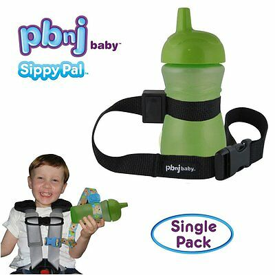 PBnJ Baby SippyPal Sippy Cup Strap Holder Leash Tether 1 Black Solid