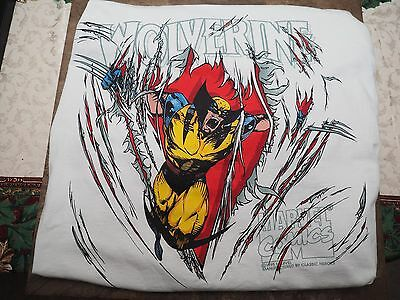 Wolverine VINTAGE 1995 White T-Shirt X-Large Never Worn - Original Marvel X-Men