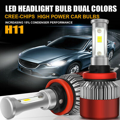PHILIPS H11 H9 H8 LED Headlight Bulb Kit Low Beam Fog Light 200W 6000K 20000LM