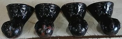 Vtg Set 4 Victorian Ball and Claw Foot Bathtub Bath Tub Feet Cast Iron Salvage