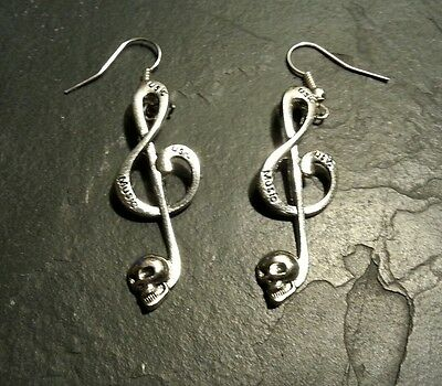 10//16//30 Pcs Antique Silver Skull Charms Music Note Pendants Halloween Jewelry
