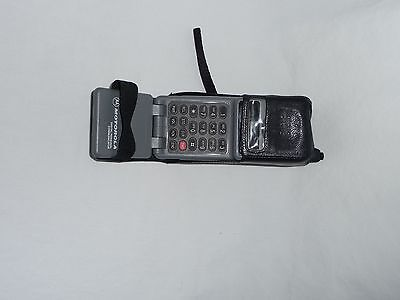 Motorola Cellular One Vintage Phone with Leather Case Antenna