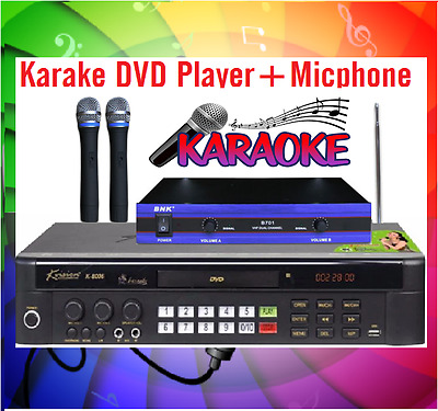New Karaoke 20000 Songs MiDi DVD Player UPGRADABLE Disc VOL1+ VHF Microphone
