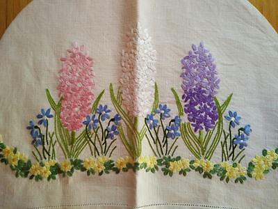 Gorgeous Hyacinths/Forgetmenot/Buttercups~Raised Hand Embroidered Tea Cosy/cover