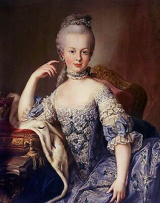 Handmade Oil Painting repro  Marie Antoinette Young