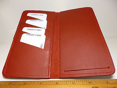 North Star Red Side Tear C. Card Leather Checkbook Cover-Made In USA-2nd #130C