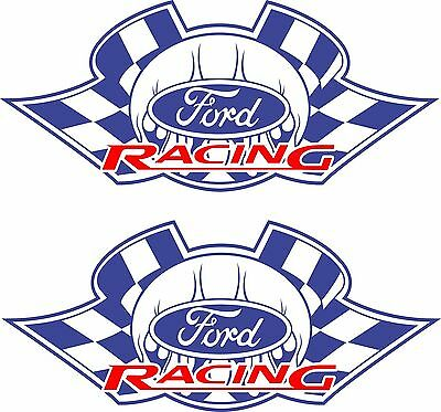 Ford Racing Stickers 2 x 275 x 120 Quality Sticker UV rated