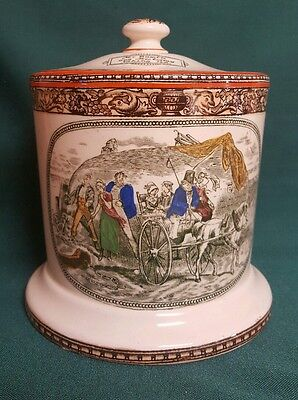 Anitique Tobacco Jar by Adams China Rare Early 1920's