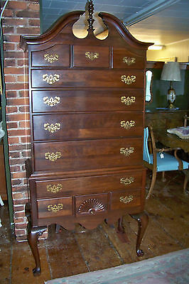 Cherry Ethan Allen Highboy Chest Dresser 11 Drawers  - #00349