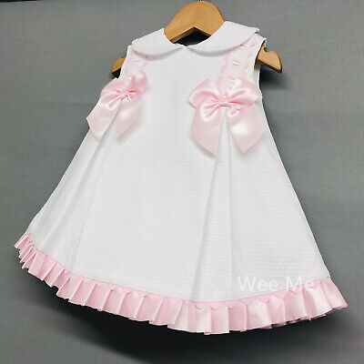 New Wee Me Baby Girl's Spanish Princess Dress with Pink Bow /Romany