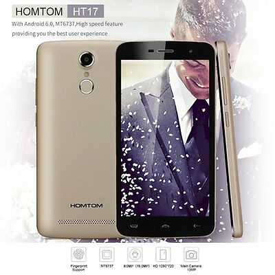 """HOMTOM HT17 4G LTE Smartphone Android 6.0 MTK6737 5.5"""" Touch ID 13MP Handy VA"""