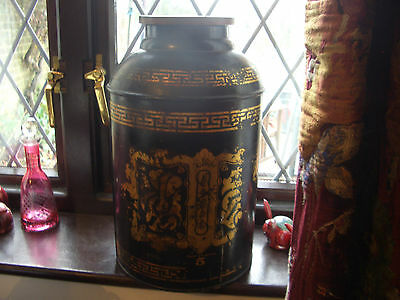 19th century tole ware Chinese tea container/lamp