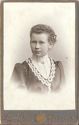 CDV photo Damenportrait - Dresden um 1900