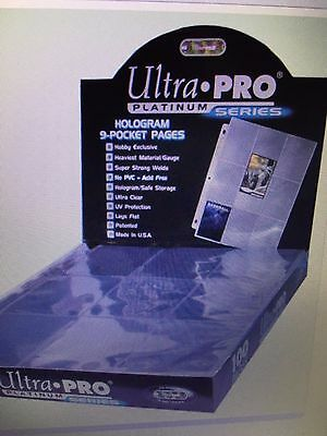 Lot Of 25 Ultra Pro 9 Pocket Trading Baseball Card Pages