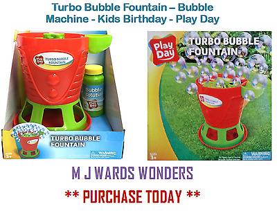 Turbo Bubble Fountain – Bubble Machine - Kids Birthday - Play Day