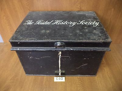 Vintage Locking Metal Trunk / Deeds Chest - The Postal History Society