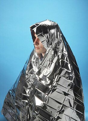 2 x Survival Foil Emergency Blanket Thermal First Aid  Waterproof Rescue Camping