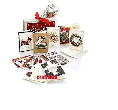 Anna Griffin Holiday Accordion Card File with Red Ribbon Bow