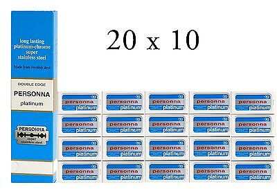 200 Israeli Personna  Razor Blades - Double Edge Blades - Made in Israel