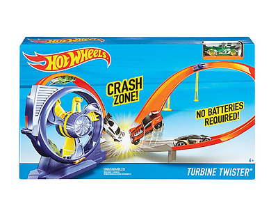 Track Set Hot Wheels Turbine Twister Kids Power Booster Racing Cars Toddler Toys