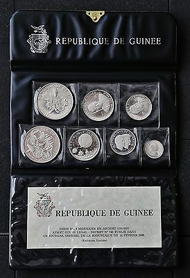 1969 Guinea Silver Proof Set