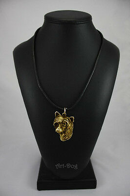 Chinese Crested Dog , gold covered necklace, high qauality Art Dog CA