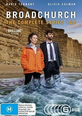 BROADCHURCH: The COMPLETE Series 1+2 DVD TV SERIES BRAND NEW RELEASE 6-DISCS R4