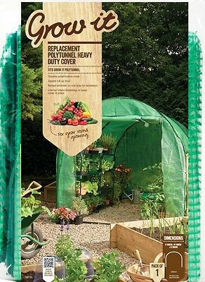 Gardman 08733 Walk In Greenhouse Grow House  Polytunnel Replacement Cover