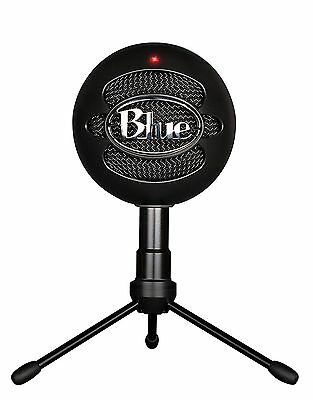 New Blue Microphones Snowball Ice Microphone USB Recording Condencer Mic Black
