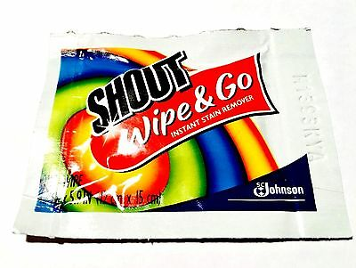 25 piece Shout Wipe & Go Instant Stain Remover Wipes single use