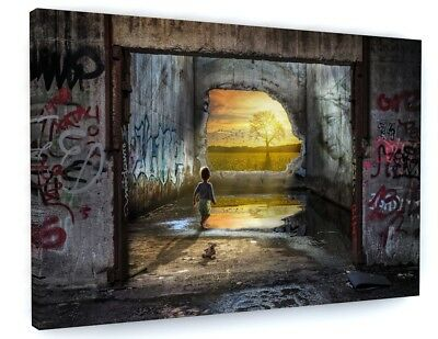 "BANKSY KIDS  GRAFFITI CANVAS PICTURE WALL ART, LARGE Various Sizes "" #A360"