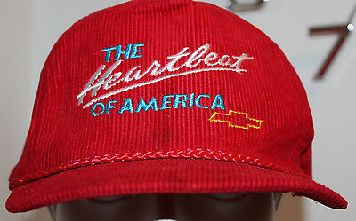Chevrolet Chevy Heartbeat of America Vintage Corduroy Cap Hat One Size Fits All