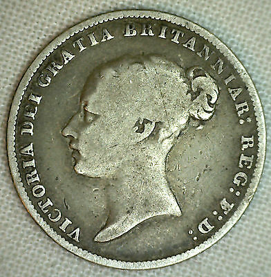 1846 UK Silver 6 Pence Sixpence Great Britain Tanner Coin You Grade It